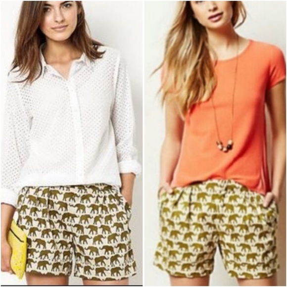 Anthropologie Pants - Anthropologie Cartonnier Finchley Elephant Shorts